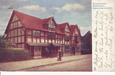 """Tuck's """"Oilette"""" Shakespears Birthplace by Artist Raphael Tuck. 1903 GC"""