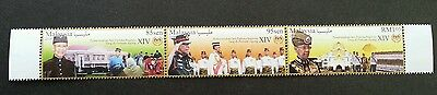 Malaysia Administration YDP Agong XIV 2016 (stamp strip) MNH *unissued *gold ink