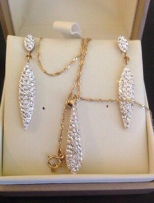 Fraser Hart 9ct Gold Earring And Pendant Set With Gift Box