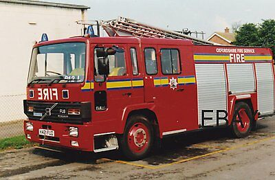 A Volvo FL6.14/Excalibur WrL with The Oxfordshire Fire Service Postcard