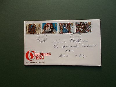 First Day Cover - Christmas 1974