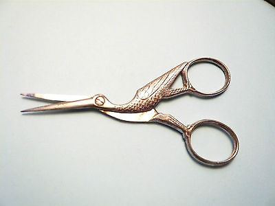 Vintage Scissors In The Shape Of A Stork