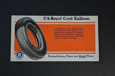 "Vintage U.S. ROYAL TIRES Ink Blotter advertising ""Balloon Tire Principle"" 1940's"