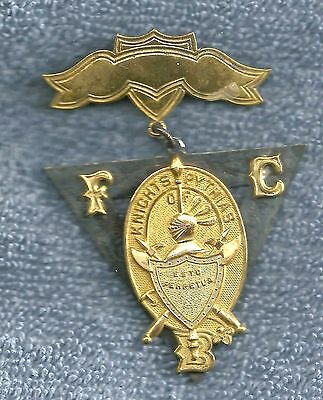Fraternity Badge  Knights Of Pythias  2 Piece