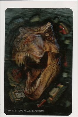 """1997 Jurassic Park The Lost World Lenticular card Image 5.5""""x3.5"""""""