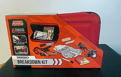 Emergency Breakdown Kit Jumper Cables Grease Monkey new with tags NWT