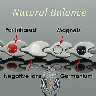 Womens Magnetic Bracelets-Negative IONS+ for Arthritis Therapy & Wellbeing-GSL4