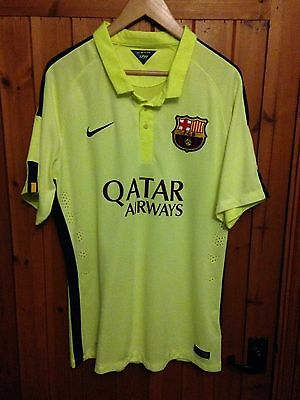 Barcelona Authentic Champions League Football Shirt,made By Nike,Size XL.