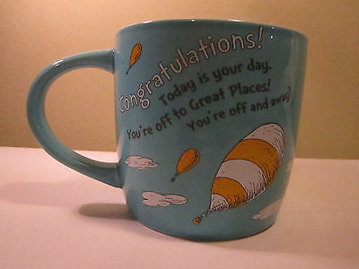 "Hallmark Dr Seuss Mug Congratulations  ""Oh The Places You'll Go""  4x4"""