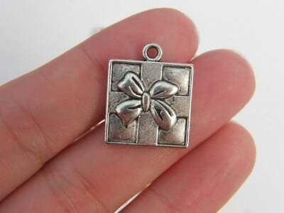 36pcs Antique silver plated angel wing charm pendant T0297
