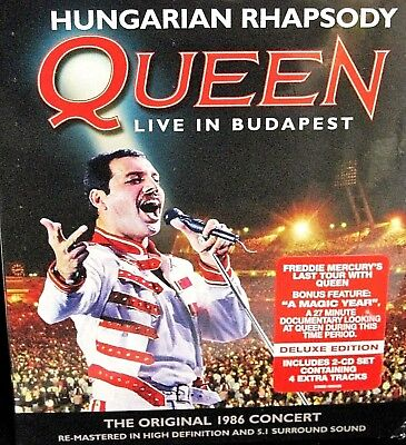 Queen - Live in Budapest NEW!  3-Disc Set, DVD/2 CDs,Concert 1986 Last Tour