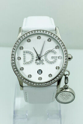D&G Dolce and Gabbana DW0091 Women's  Watch with White Leather Strap