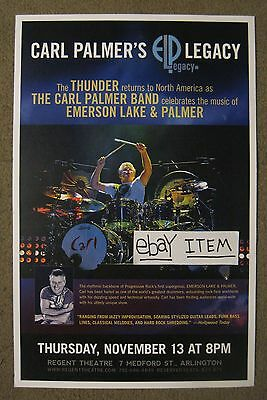 """Emerson,Lake & Palmer-""""Carl Palmer Band 2014 Promo Poster"""" Asia-Yes-Drums-Great!"""