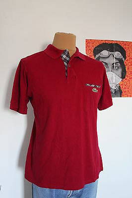 polo lacoste bordeaux taille 4 (M) made in france