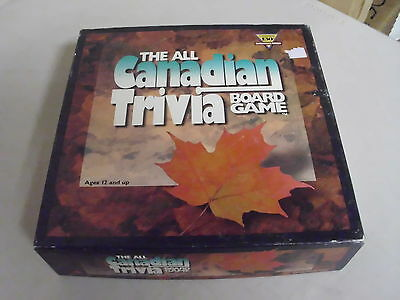 The All Canadian Trivia Board Game Replacement Pieces + Cards Only