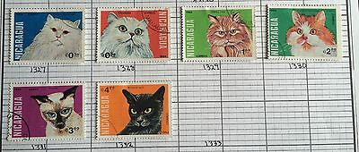 Cats Nicaragua stamps