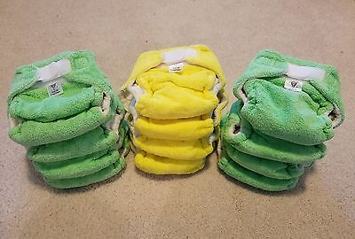 *** NEW LITTLE LIONS COTTON VELOUR Trim Fitted Cloth Diapers LOT S NB Small NWOT