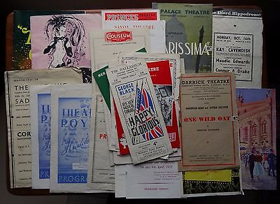 Lot of 30 Mixed Vintage Theatre Programmes (1930s-1960s)