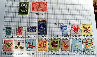 interesting page different stamps (no. 43) Nicaragua
