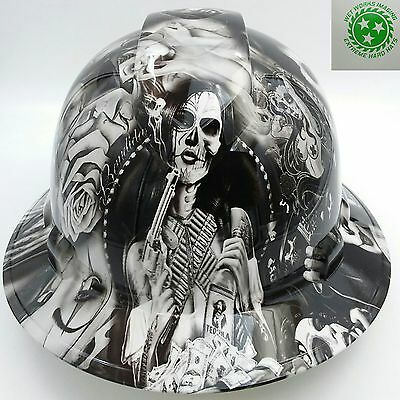 Pyramex Ridgeline Wide Brim Hard Hat Hydro Dipped in ALL HUSTLE TEQUILA SHOOTER