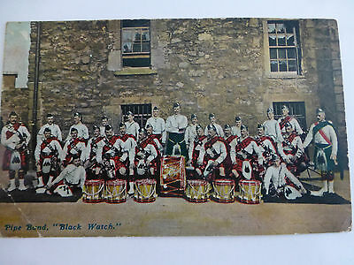 Black Watch Pipe Band - Old Military Postcard
