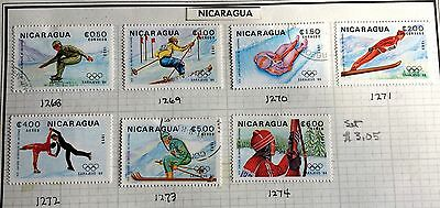 nice set wintersports (no. 42) Nicaragua stamps