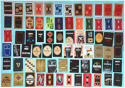 Collection of 71 Single Guinness Playing Cards