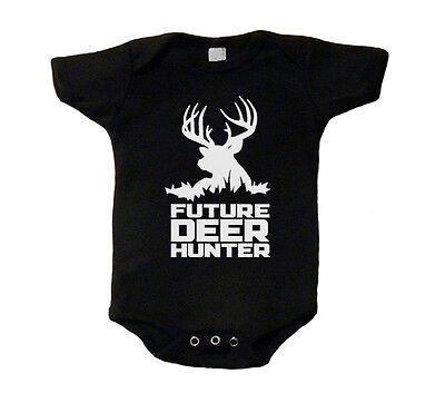 Future Deer Hunter Baby T-Shirt Baby Shirt One Piece Snap Tee Hunting Dynasty