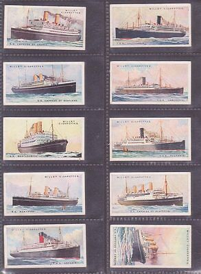 """SET: """"Merchant Ships of the World"""" issued by Wills in 1924 Cat £60 50/50"""
