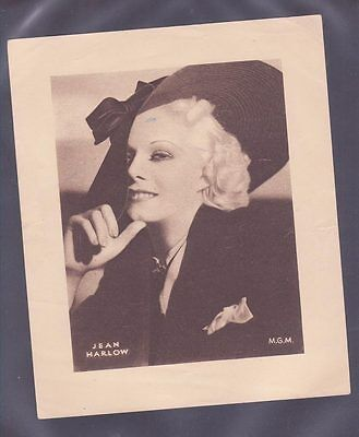 Film Stars 1930s Insert 166x138mm issued by DC Thomson Jean Harlow