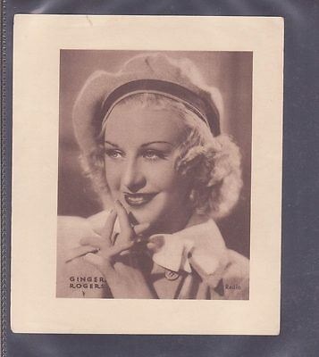Film Stars 1930s Insert 166x138mm issued by DC Thomson - Ginger Rogers