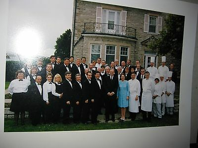 Jean chretien phot taken with staff at 24 sussex residence