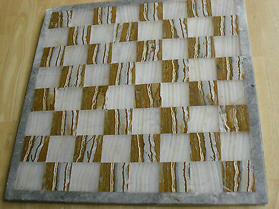 Solid Marble Chess Board 35 cm x 35 cm Family Game Mexico Square Checkers