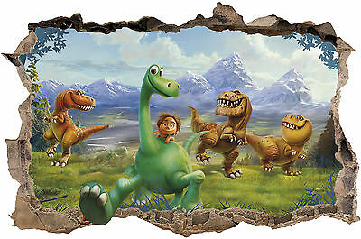 The Good Dinosaur  Smashed Wall Sticker 3D Boys Girls Vinyl Wall Art Decal