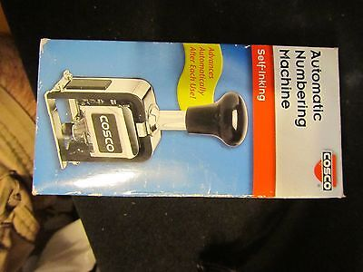 Cosco Automatic Numbering Machine, 6 Wheels, 8 Actions, Self-Inking .........nos