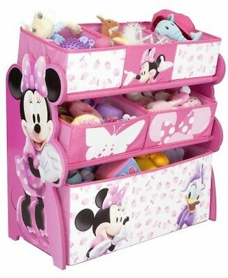 Disney Minnie Mouse Multi-Bin Toy Organizer (Pink)