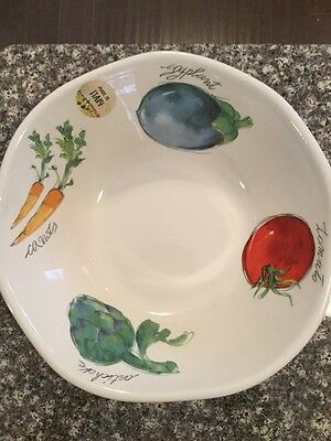 NEW!!! EFFETTI d'Arte Made in Italy Vegetable Pasta Salad Bowl