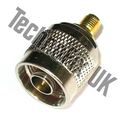 SMA female to N type male adapter (SMA F to N type M)