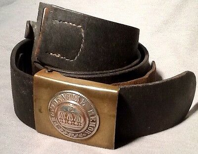 Imperial German, Kingdom of Saxony, WW1, Enlisted Man Buckle & Maker Marked Belt