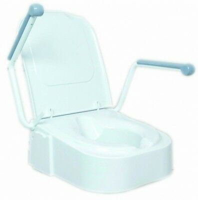 NRS Healthcare Raised Toilet Seat With Arm Rests
