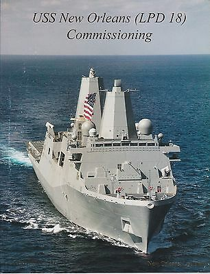 USS New Orleans commissioning Book