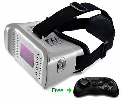 3D VR Box Virtual Reality Headset Glasses For iPhone 7,6,6S + Bluetooth Control