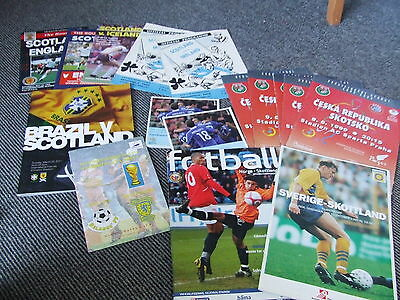 Collection Of Scotland Homes & Aways 1958-2011 X 16 Issues All Listed