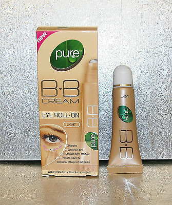 **New** Pure BB Cream Eye Roll On Light 10ml with Vitamin E + Mineral X1 Unit