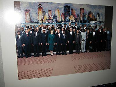 Group photo of Commonwealth Prime Ministers 1987 in Vancouver B.C.