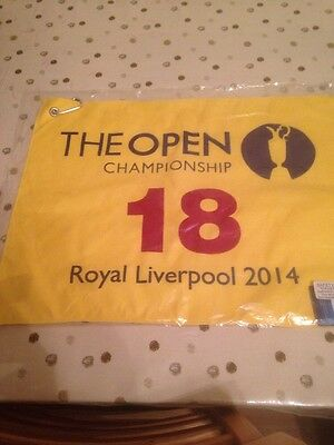The Open Championship Royal Liverpool 2014 18th Hole Yellow Pin Towel