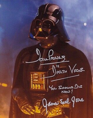 "Dave Prowse & James Earl Jones Autograph Signed 10"" X 8 "" Photo Star Wars"