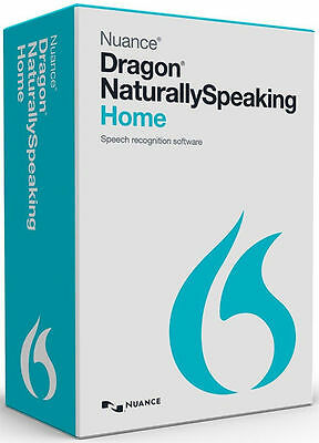 New Nuance Dragon NaturallySpeaking Home 13.0 Headset & Mic - Voice Recognition
