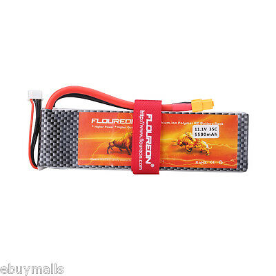 11.1V 3S 35C 5500mAh Lipo RC Battery for RC Airplane Truck Boat Car Helicopter