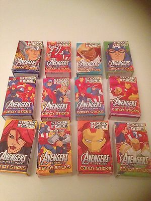 12 Boxes Avenger Candy Sticks / retro sweets